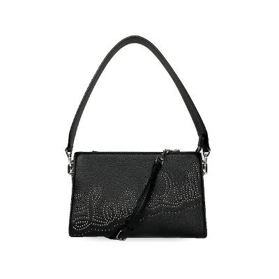 stud logo bag black